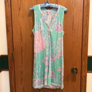 EUC Lilly Pulitzer Minty Fresh Essie Dress Size M
